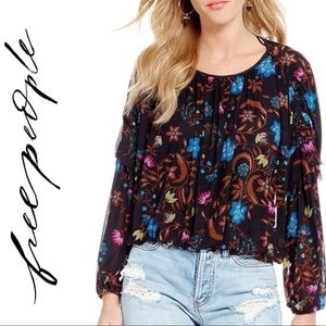 NEW Free People Wildflower Honey Floral Blouse